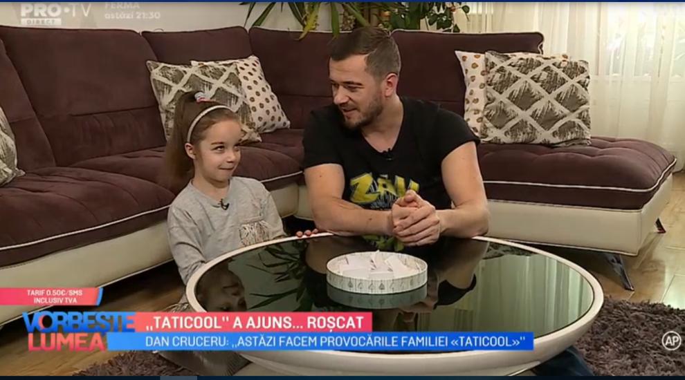 """VIDEO """"Taticool"""" a determinat-o pe fiica sa să mănânce banană cu muștar"""