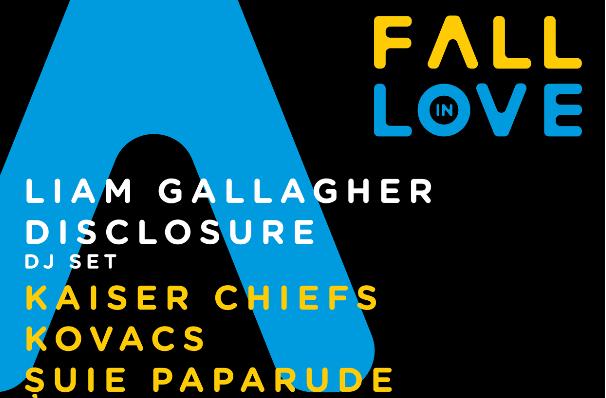 Fall in Love Festival prezintă: Liam Gallagher, Disclosure Dj set, Kaiser Chiefs, Kovacs, Șuie Paparude și FiRMA