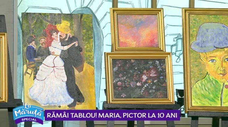 VIDEO Maria Pintilie, pictoriță la 10 ani