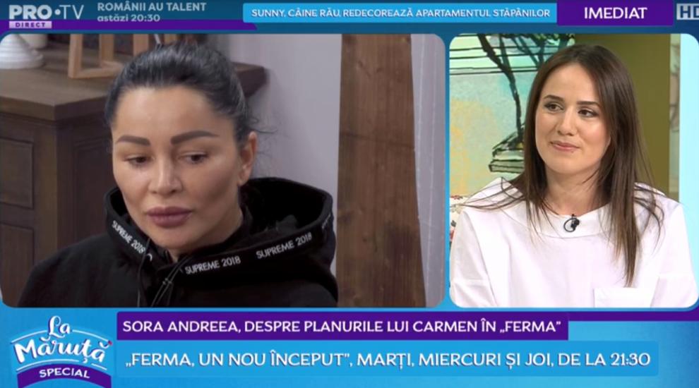VIDEO Andreea Negoiță, despre planurile lui Carmen în Ferma