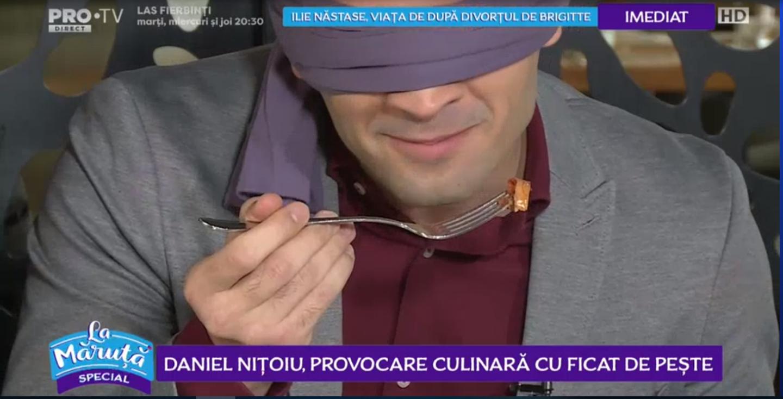 VIDEO Daniel Nițoiu, provocare culinară cu ficat de pește