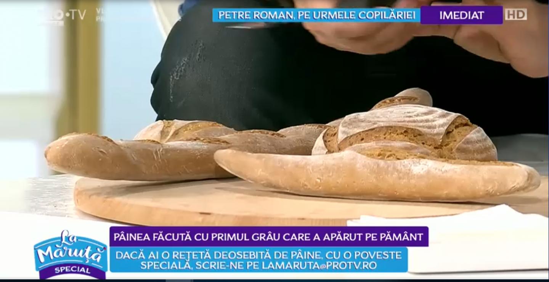 VIDEOCătălin Măruță vă arată România de pâine. Florentina a pregătit o pâine care conține grâu antic