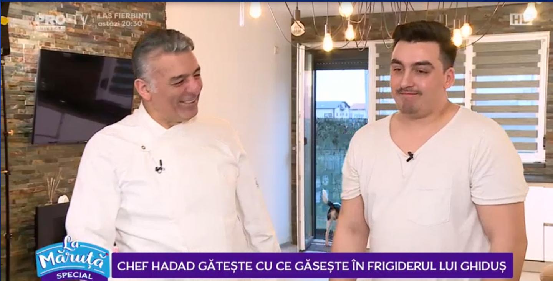 VIDEO Chef Hadad gătește cu ce găsește în frigiderul lui Ghiduș
