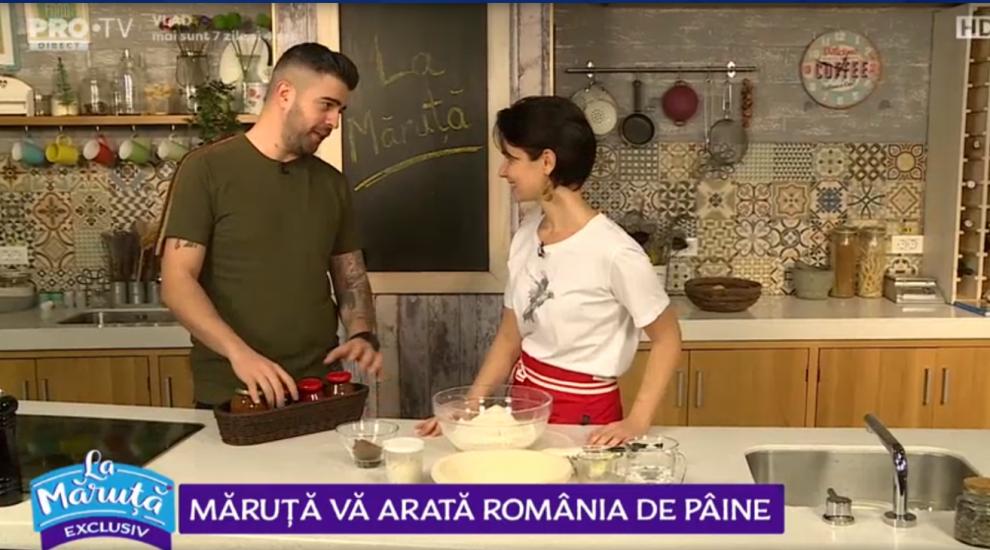 VIDEO Cătălin Măruță vă arată România de pâine. Speak face pâine romană cu Viviana Mârza
