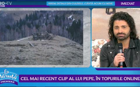 VIDEO Cel mai recent clip al lui Pepe, în topurile online