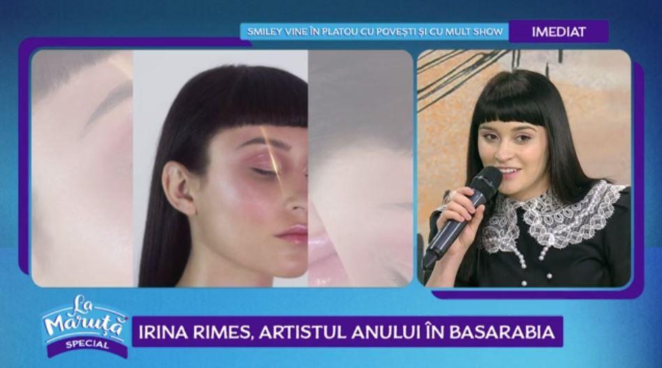VIDEO Irina Rimes a fost desemnată artistul anului în Basarabia