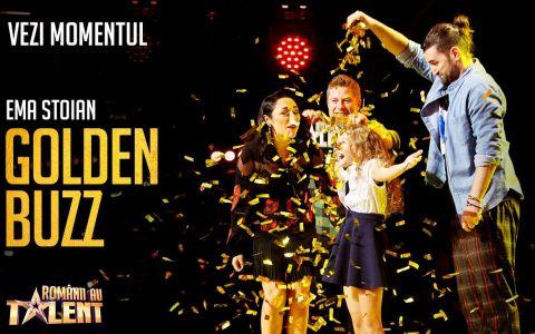 Al doilea GOLDEN BUZZ de la Românii au talent, sezonul 9. Gimnasta care a lăsat-o fără cuvinte pe Andra