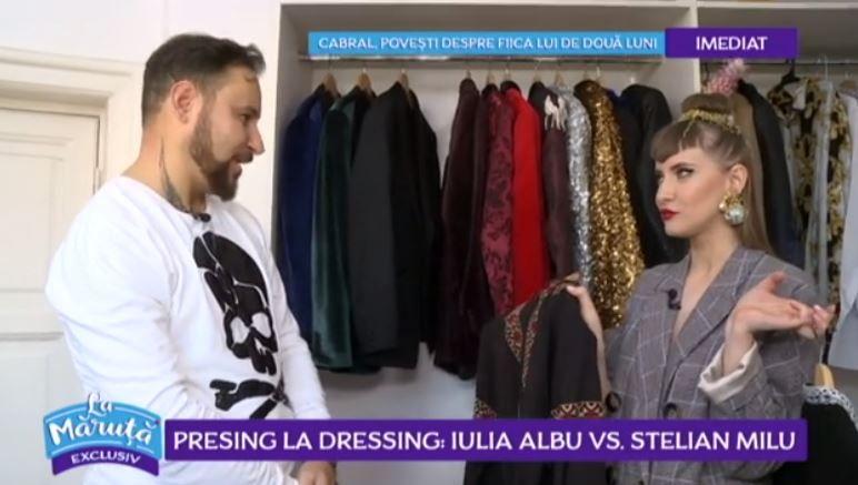 VIDEO Presing la dressing: Iulia Albu vs Stelian Milu