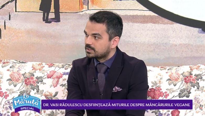 VIDEO Doctor Vasi Rădulescu desființează miturile despre mâncărurile vegane