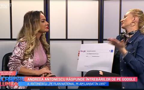 VIDEO Andreea Antonescu răspunde întrebărilor de pe Google