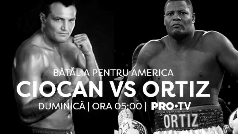 PRO TV va transmite în direct meciul lui Cristi Ciocan din America!