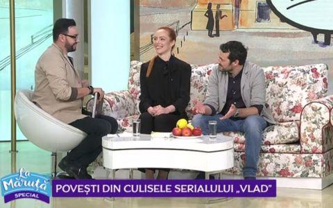 VIDEO Olimpia Melinte și Andrei Aradits, dezvăluiri din culisele serialului VLAD
