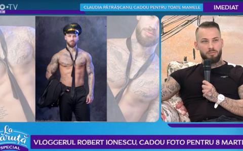 VIDEO Vloggerul Robert Ionescu, cadou foto pentru 8 martie