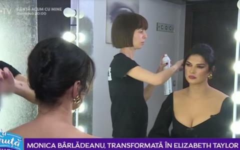 VIDEO Monica Bârlădeanu, transformată în Elizabeth Taylor