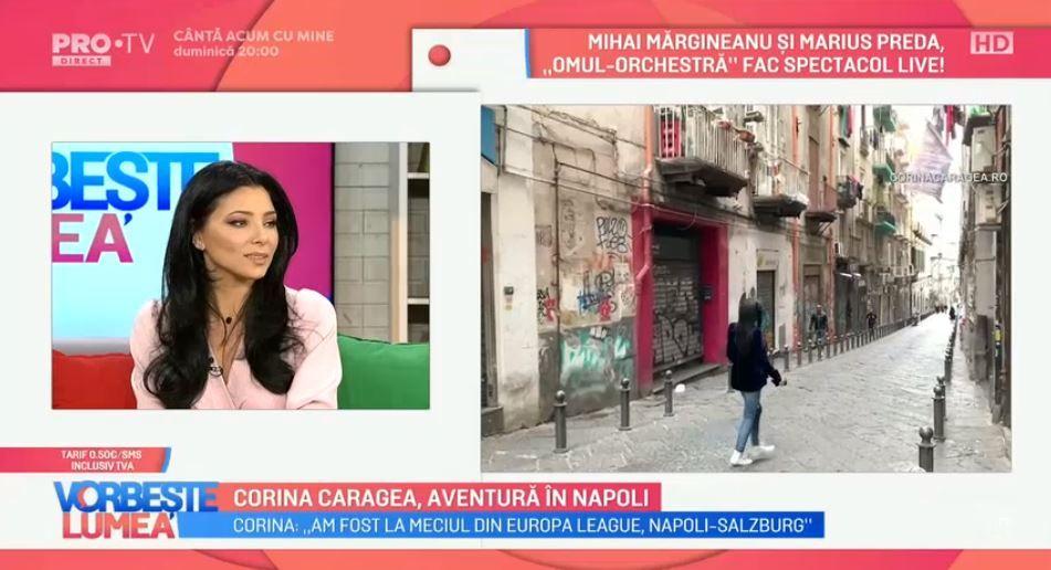 VIDEO Corina Caragea ne vorbește despre experiența avută în Napoli. Ce obiective turistice îți recomandă