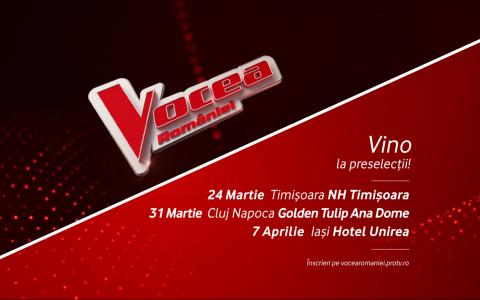 Încep preselecțiile pentru sezonul 9 Vocea României! Primele audiții au loc pe 24 martie la Timișoara!