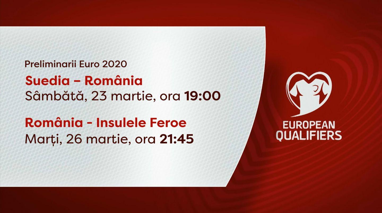 România începe campania de calificare pentru EURO 2020, în direct la PRO TV!