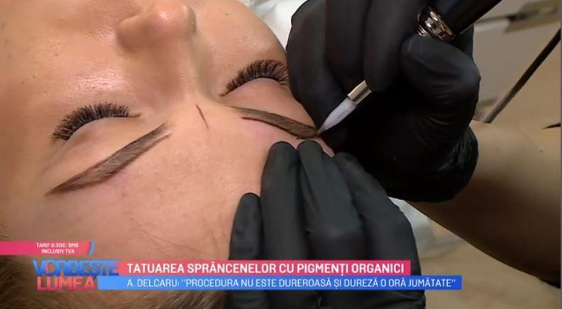 VIDEO Tatuarea sprâncenelor cu pigmenți organici