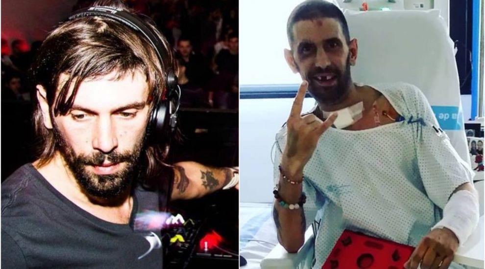DJ Pagal s-a refăcut miraculos după accidentul de motocicletă. Prima poză din spital