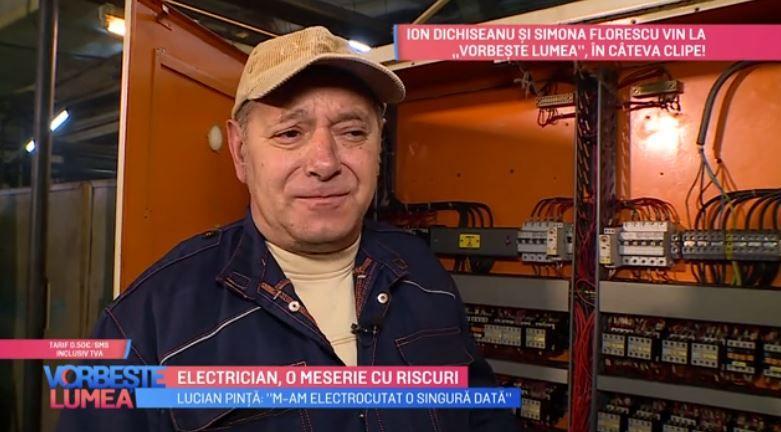 """VIDEO Lucian Pință, concurentul de la """"Cântă acum cu mine"""" ne dezvăluie meseria lui de electrician"""
