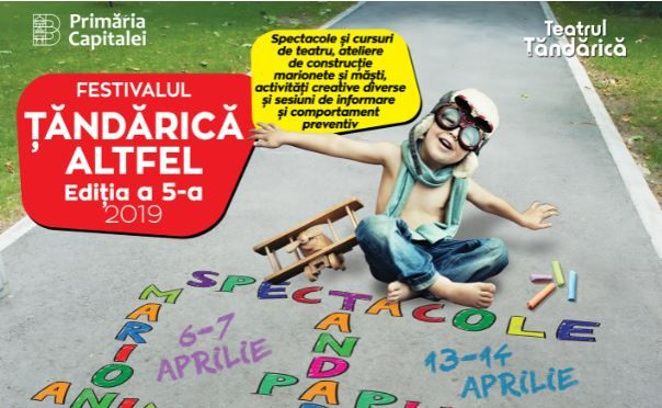 Teatrul de Animație Țăndărică organizează în luna aprilie cea de-a 5-a ediție a Festivalului  Țăndărică Altfel