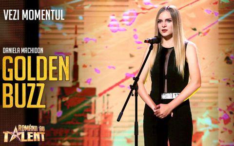 Al patrulea GOLDEN BUZZ la Românii au talent, sezonul 9. Daniela Machidon,  unul dintre îngerii lui Călinescu