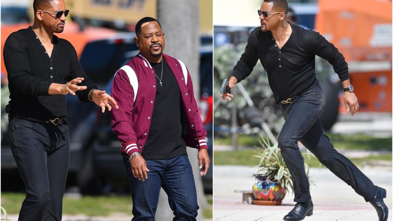 Faceți loc, vin băieții răi! Martin Lawrence și Will Smith, surprinși la filmări pe străzile din Miami