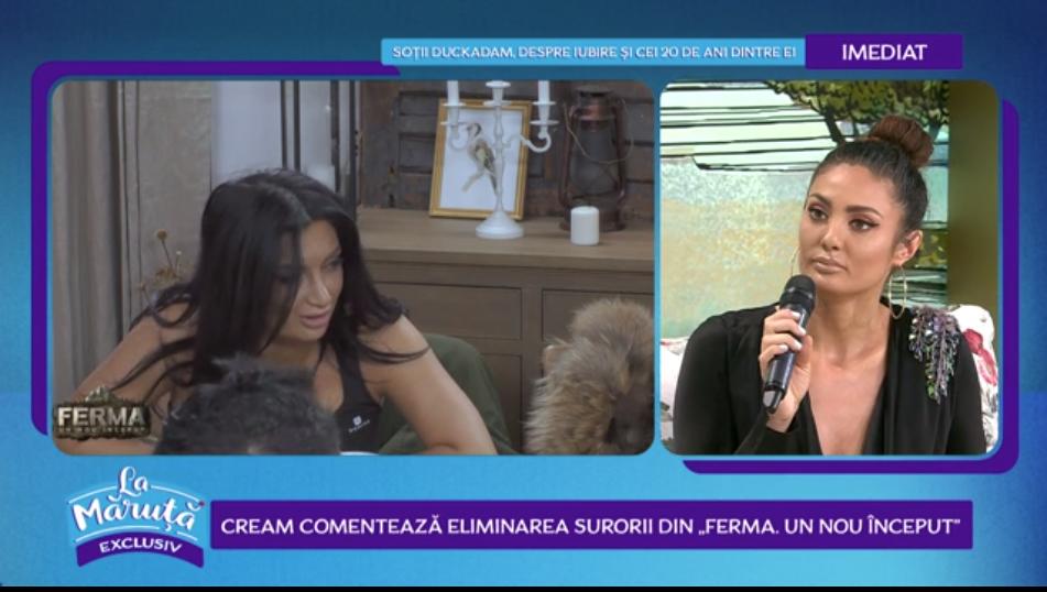 Claudia Pavel comentează eliminarea surorii sale din Ferma. Cu ce explicații a venit