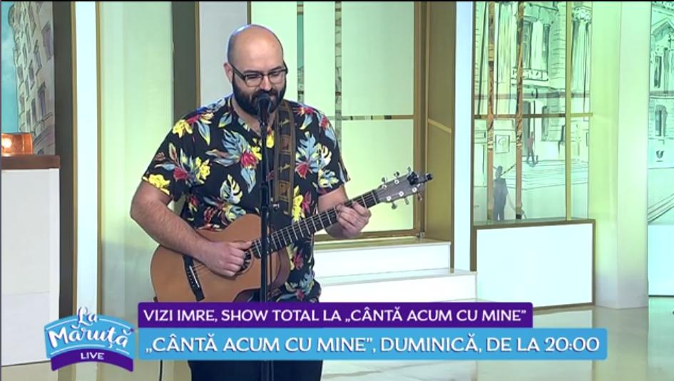 """Vizi Imre, show total la """"Cântă acum cu mine"""""""