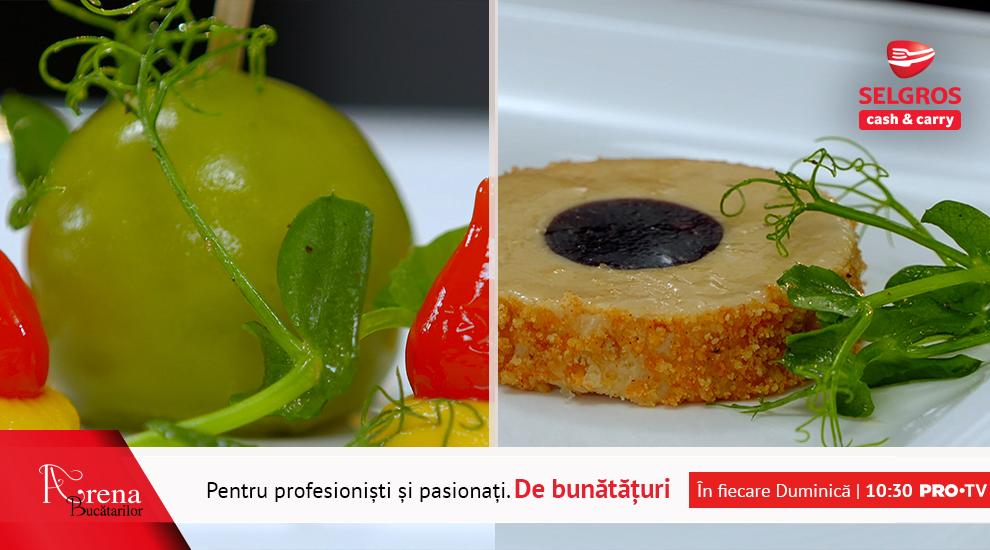 ARENA BUCĂTARILOR: Platou cu aperitive – terină, parfait, bonbon și roast beef