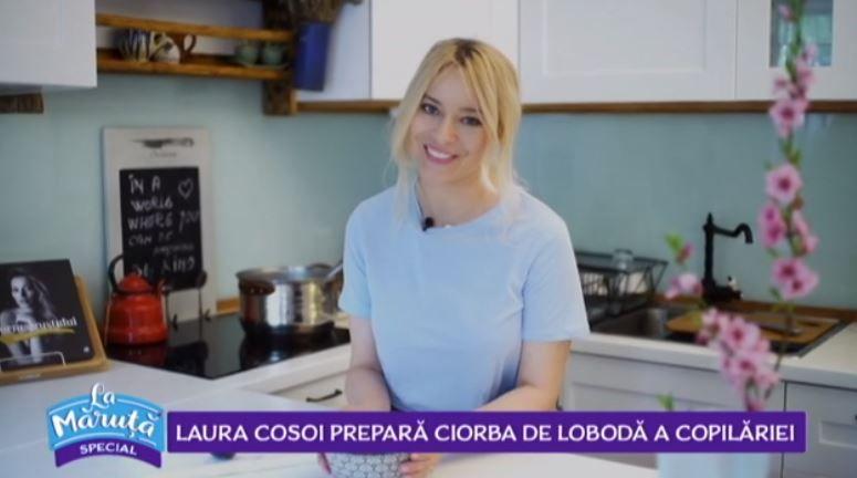VIDEO Laura Cosoi ne dezvăluie o nouă rețetă de ciorbă de lobodă