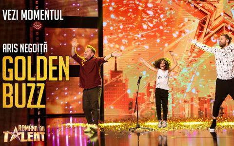 Aris Negoiță, ultimul Golden Buzz la Românii au talent, sezonul 9:  E al nostru, e Mowgli al nostru!