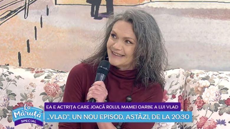 VIDEO Aura Călărașu, actrița care joacă rolul mamei nevăzătoare a lui Vlad
