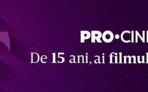 PRO CINEMA sărbătorește 15 ani de la lansare. Ce filme puteți vedea