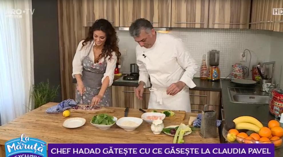 VIDEO Chef Hadad gătește cu ce găsește la Claudia Pavel