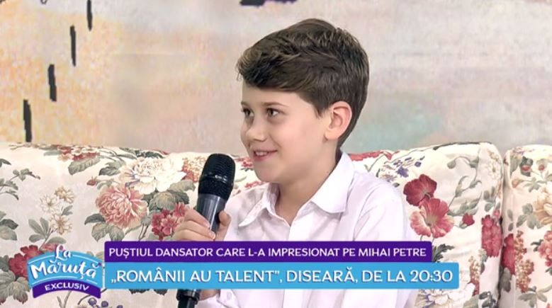 "VIDEO Theodor Focșăneanu, puștiul care i-a uimit pe toți la ""Românii au talent"""