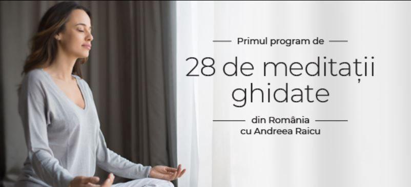 Andreea Raicu lansează primul program de meditații ghidate în România