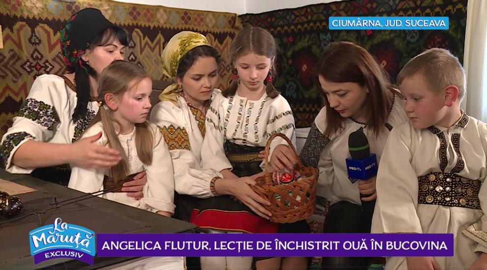 VIDEO Angelica Flutur, lecție de închisit ouă în Bucovina
