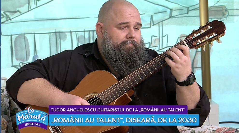 """VIDEO Povestea chitaristului Tudor Anghelescu de la """"Românii au talent"""""""