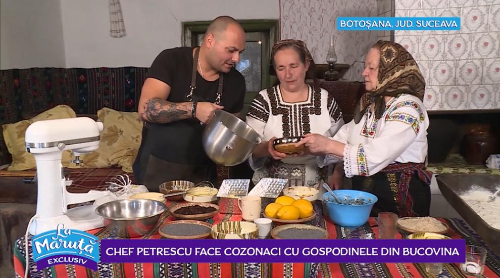 VIDEO Chef Petrescu face cozonaci cu gospodinele din Bucovina
