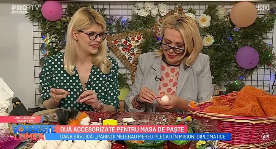 Dana Săvuică și Damiana Păun te învață cum să ornezi ouăle de Paște