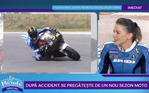 Motociclista Kiara Firan își împarte viața între concursuri și teatru
