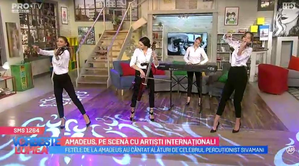 VIDEO Amadeus, pe scenă cu artiști internaționali