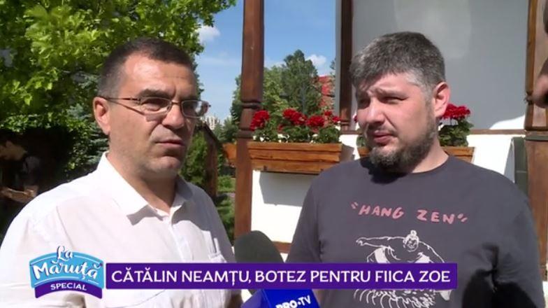 VIDEO Cătălin Neamțu, botez pentru fiica Zoe