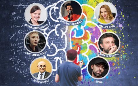 Raed Arafat, Andi Vasluianu, Spike și Cristian Dascălu, conferință motivațională despre inovație și motivație