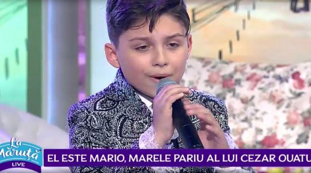 VIDEO El este Mario, copilul cu voce de aur care l-a impresionat pe Cezar Oatu