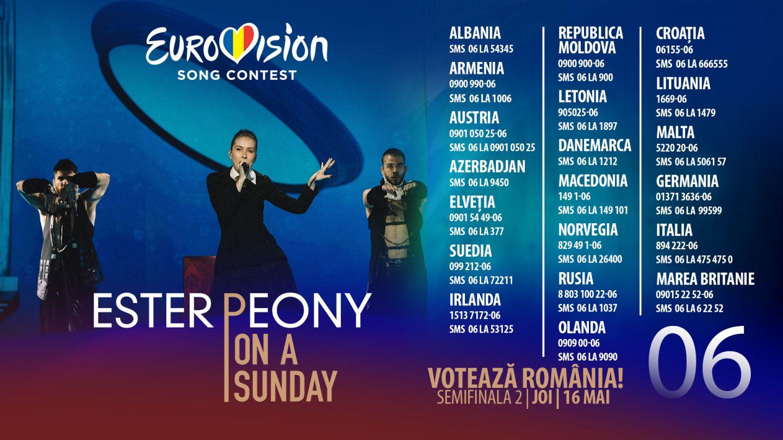 Ester Peony concurează în această seară, pentru România, în semifinala Eurovision