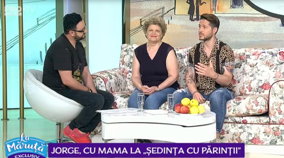 """VIDEO Jorge, cu mama la """"ședința cu părinții"""". Declarație emoționantă dezvăluită de cântăreț"""