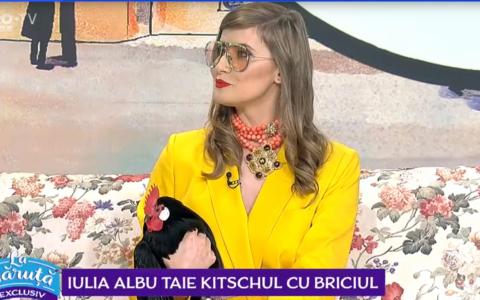 VIDEO Iulia Albu, o nouă apariție inedită. Ce a spus despre fotografiile vedetelor de pe Instagram