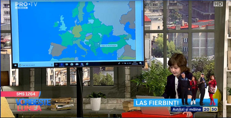 VIDEO Băiețelul genial, lecție de geografie